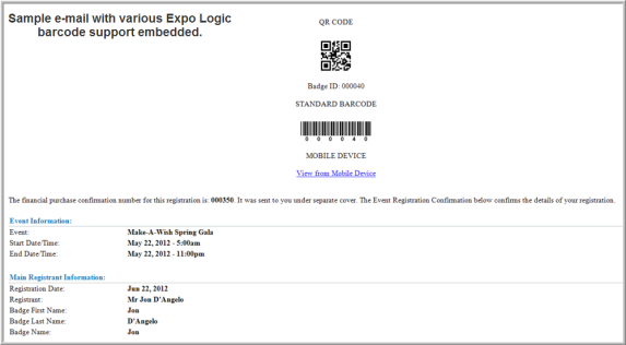 Using Expo Logic for Event Registrations