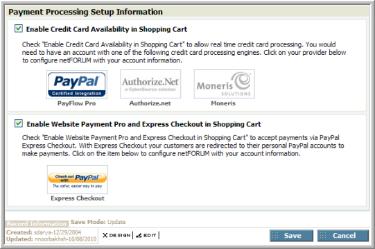 Setting Up PayFlow Pro as a Payment Processing Option