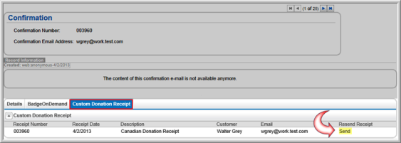 creating a custom donation receipt